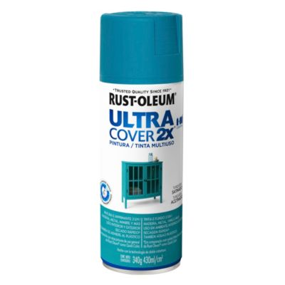 Pintura en aerosol multiuso Ultra Cover 2x turquesa satinado 340 g