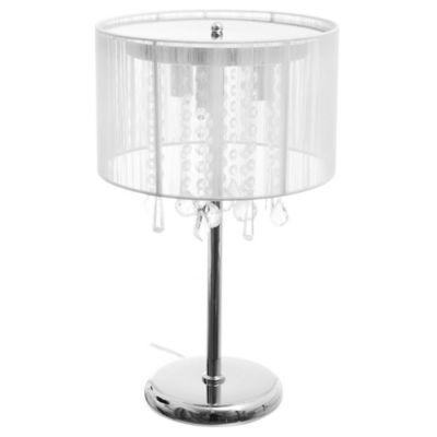 Lámpara de mesa con caireles