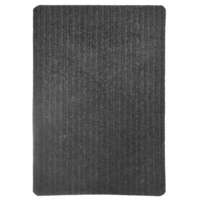 Felpudo 60 x 40 cm poliéster gris