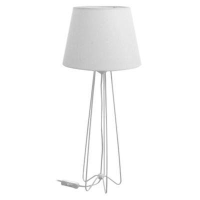 Lámpara de mesa Berry blanca para 1 luz