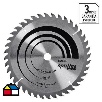 """Disco de sierra circular 7 1/4"""" 40 dientes"""