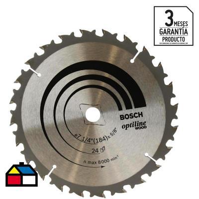 """Disco de sierra circular 7 1/4"""" 24 dientes"""