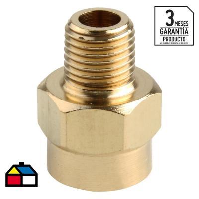 """Adaptador reducción para compresores 3/8"""" x 14cm"""
