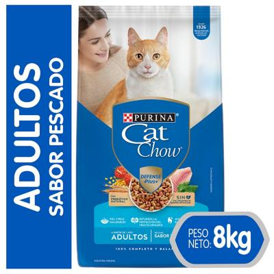 Alimento seco para gato adulto 8 kg pescado