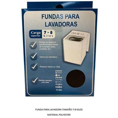 Funda para lavadora superior de 7-8 kg textil blanco
