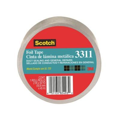 Cinta adhesiva para temperaturas extremas 51 mm 45 m aluminio