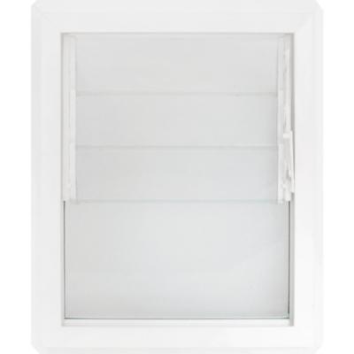 Ventana monolítica celosía PVC americano klassik 46x55 blanco