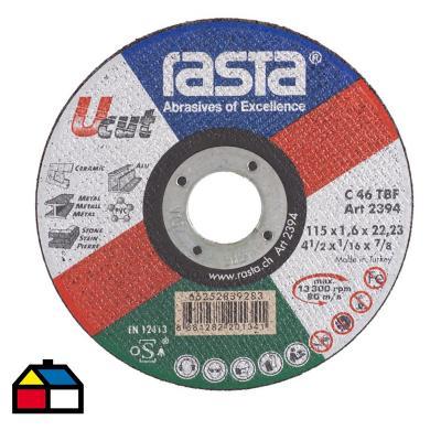 """Disco de corte universal 4 ½"""" óxido de aluminio"""