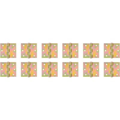 "Pack 12 bisagras retén 3x3"" 12 unidades zincado"