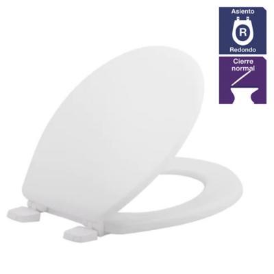 Asiento WC redondo plástico Gris