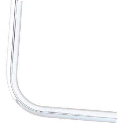 Codo para barra de cortina 16mm plateado