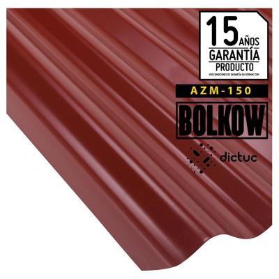 0.35 x 851 x 3660 mm, Plancha zinc acanalada prepintada roja