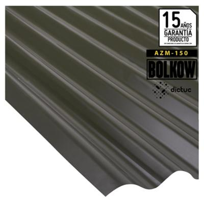 0.35 x 851 x 3660 mm, Plancha zinc acanalada prepintada negra