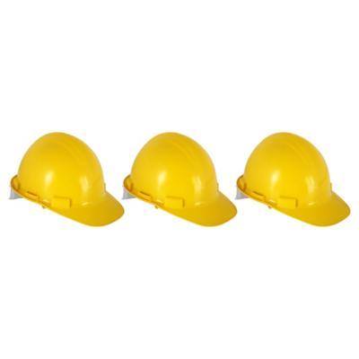 Set de cascos de seguridad 3 unidades amarillo