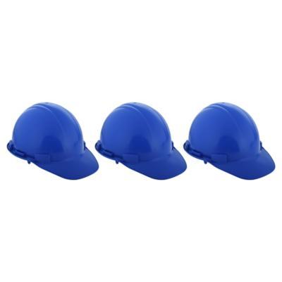 Set de cascos de seguridad 3 unidades azul