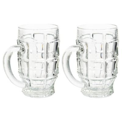 Set de jarras para cerveza vidrio 521 cc 2 unidades