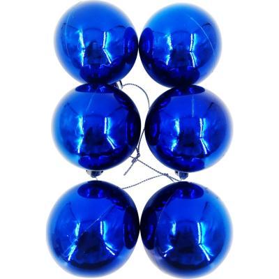 Esferas 6 cm azul brillo x12
