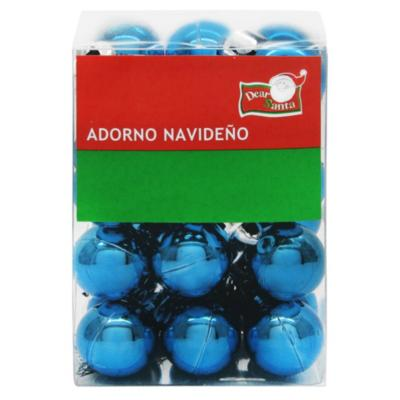 Esferas 2 cm azul brillo x24