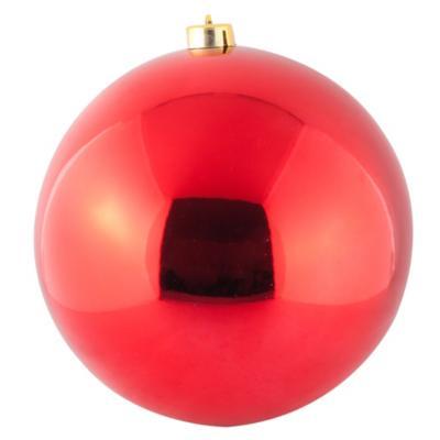 Esfera 20 cm oja brillo x1