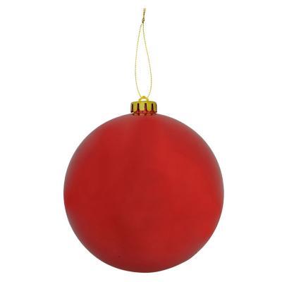 Esfera 15 cm roja brillo x1