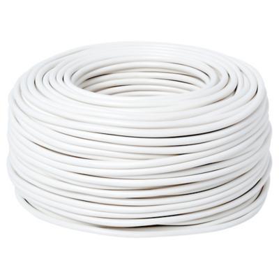 Cordón 2x0,75 mm 100 m Blanco