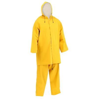 Traje impermeable con piernera talla XL amarillo
