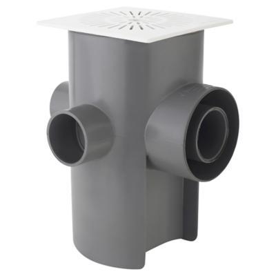 Pileta PVC 110mm x 75mm x 50mm x 40mm Blanco / Gris 1u