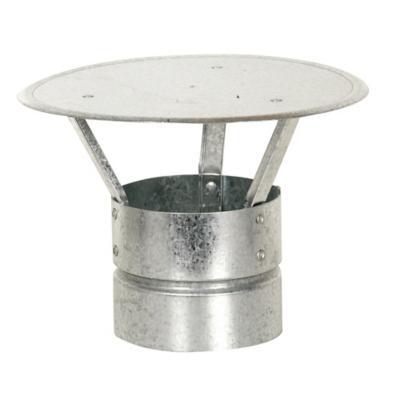 "Gorro para tubo acero galvanizado 4,5"" 0,8mm"