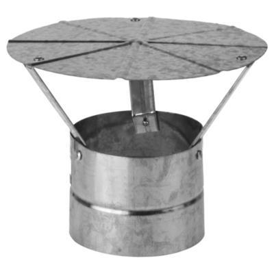 "Gorro para tubo acero galvanizado 5"" 0,8mm"