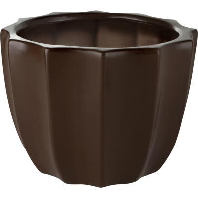 Macetero de cerámica 23x18 cm chocolate