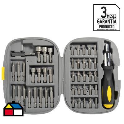 Kit para destornillador 45 piezas