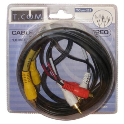 Cable Audio/Video RCA 1.8mts.