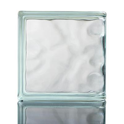 Bloque de vidrio transparente terminación curva