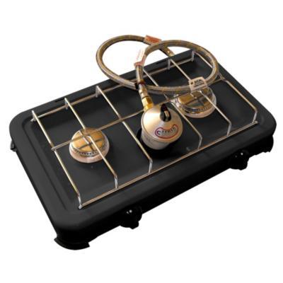 Cocinilla con regulador gas metal negro