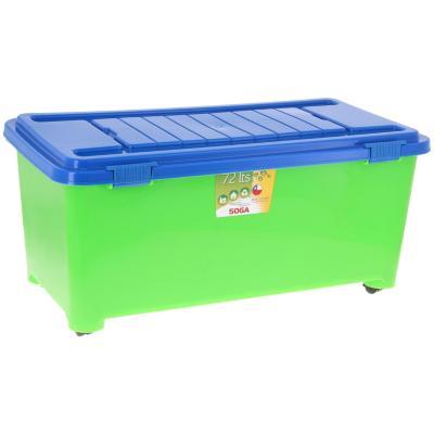 Baúl infantil 72 l 80x40x34 cm azul/verde