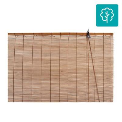 Cortina enrollable bambú 160x165 cm café