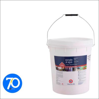 Esmalte al agua satinado blanco 5 gl
