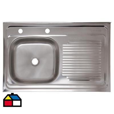 Lavaplatos 14,6x80x50 cm acero inoxidable