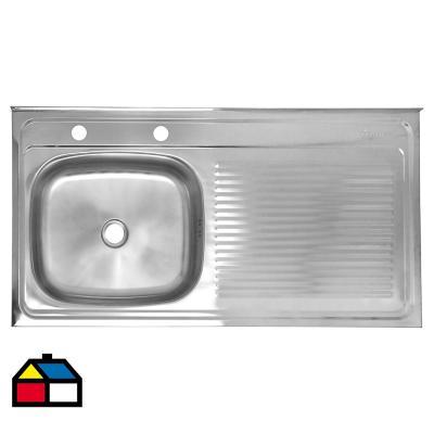 Lavaplatos 14,6x100x50 cm acero inoxidable