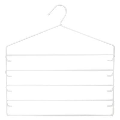 Colgador plástico para faldas y pantalones Blanco