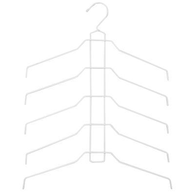Colgador para blusas y camisas plástico blanco