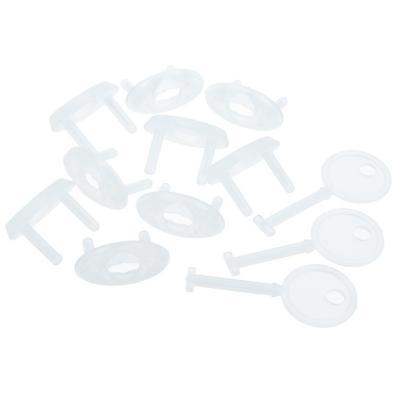 Seguro con llave para enchufe plástico Blanco