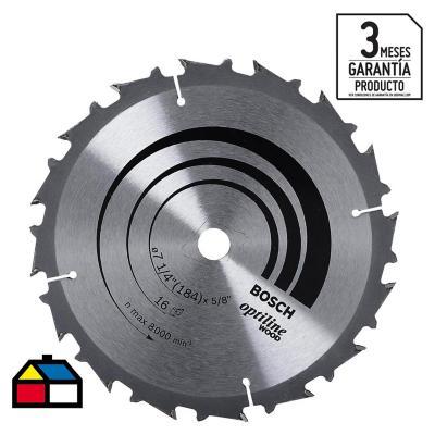 """Disco de sierra circular 7 1/4"""" 16 dientes"""