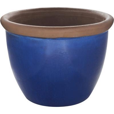 Macetero de cerámica 42x32 cm azul