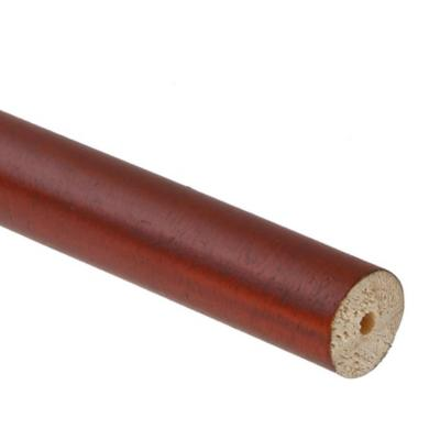 Barra cortina madera 19 mm 2 m café