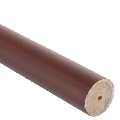 Barra cortina madera 28 mm 2,5 m café