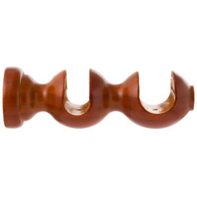 Soporte para barra de cortina 28 mm chocolate