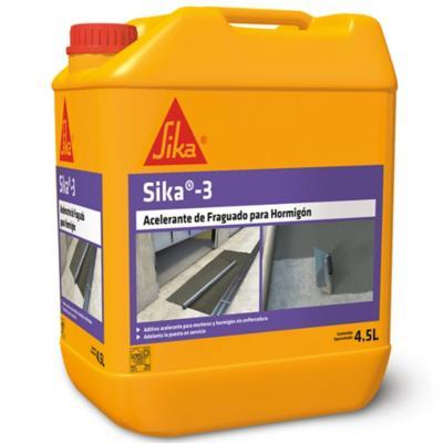 Bidón 4.5 lt Aditivo controlable del fraguado del cemento Sika 3