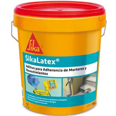 Tineta 18 lt aditivo adherencia Sika Látex