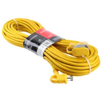 Extensión eléctrica profesional 20 m 10 A Amarillo